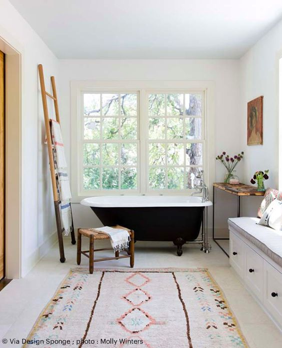 tapis decoratif salle de bain