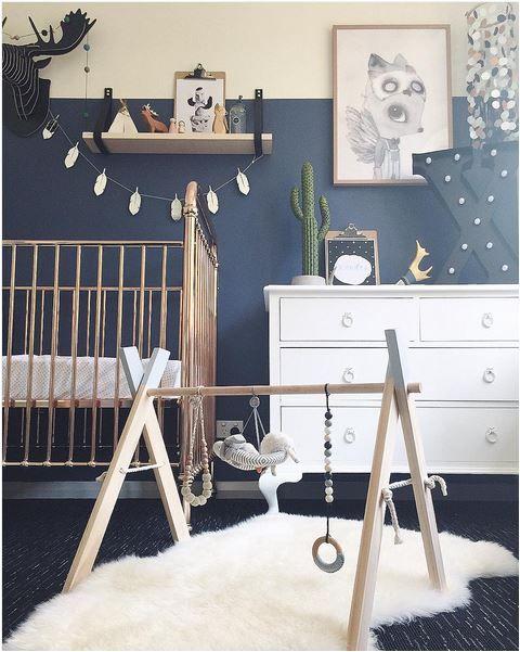 mur chambre bebe bleu apaisant
