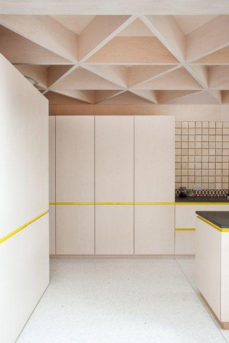 plafond bois original