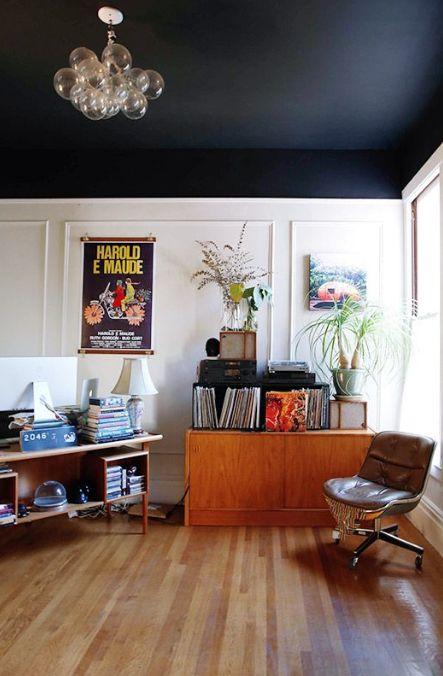 plafond peinture foncee