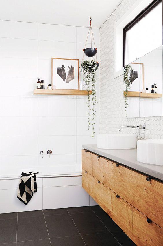 meuble lavabo sur mesure en bois