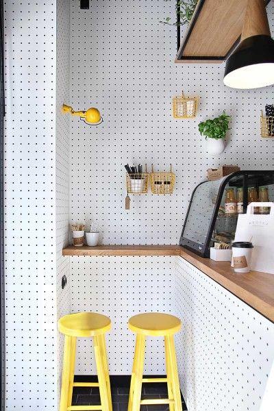 panneaux perfores blancs mur cuisine