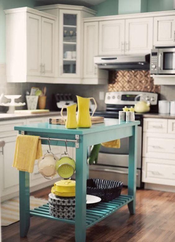 ilot cuisine turquoise