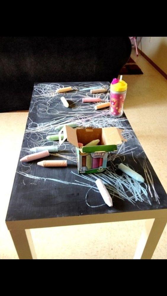 peinture a tableau sur table salon