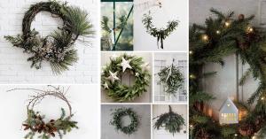 couronne comme décoration de Noël extérieure