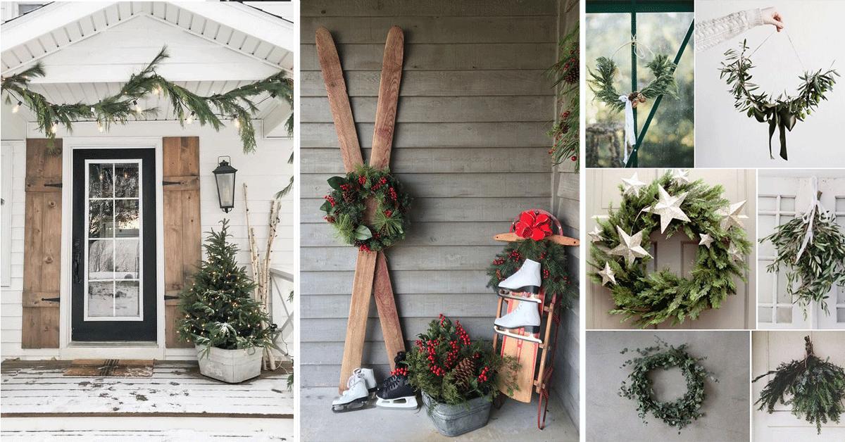 Décorations de Noël extérieures : 7 façons écologiques d'enjoliver votre entrée