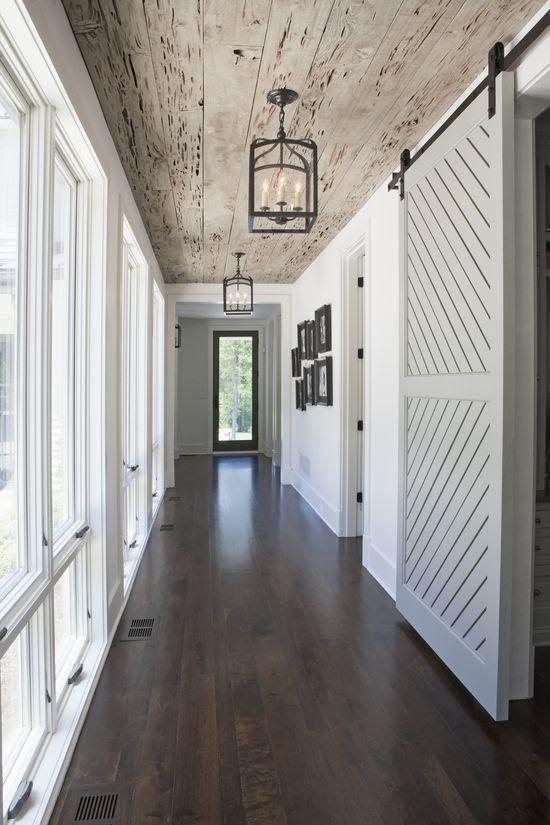 plafond bois rustique