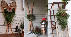 du matériel sportif comme décoration de Noël extérieures