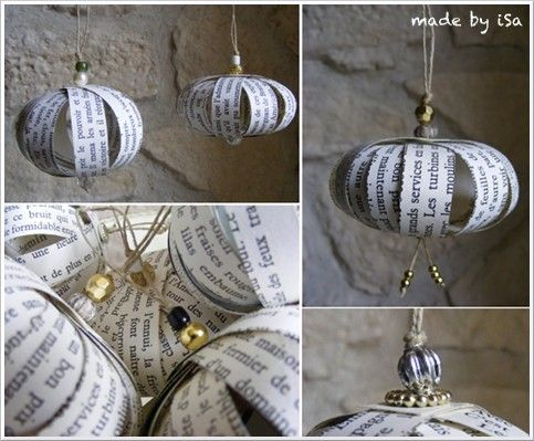 boule de noel decorative en papier