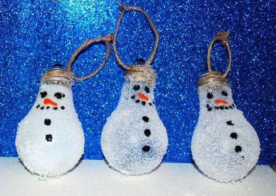 ampoules bonhommes de neige