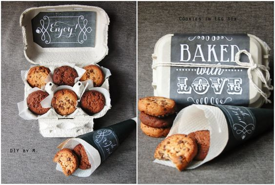 biscuit chocolat dans boite oeuf