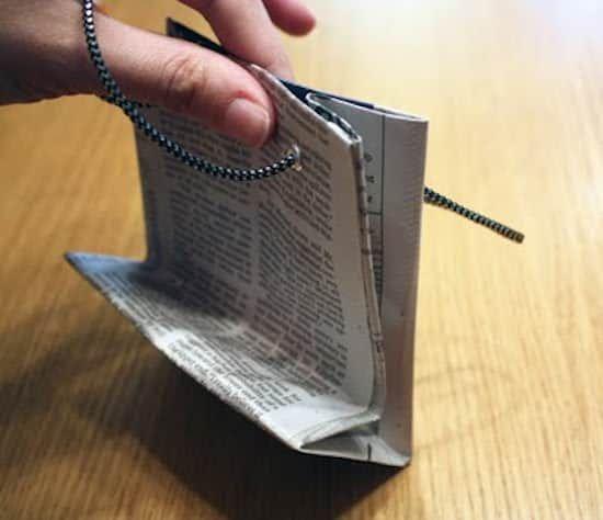 sac cadeau en papier journal