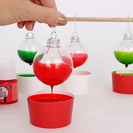 ampoule de noel avec peinture