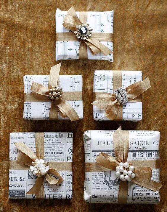 emballage cadeau feuille de musique