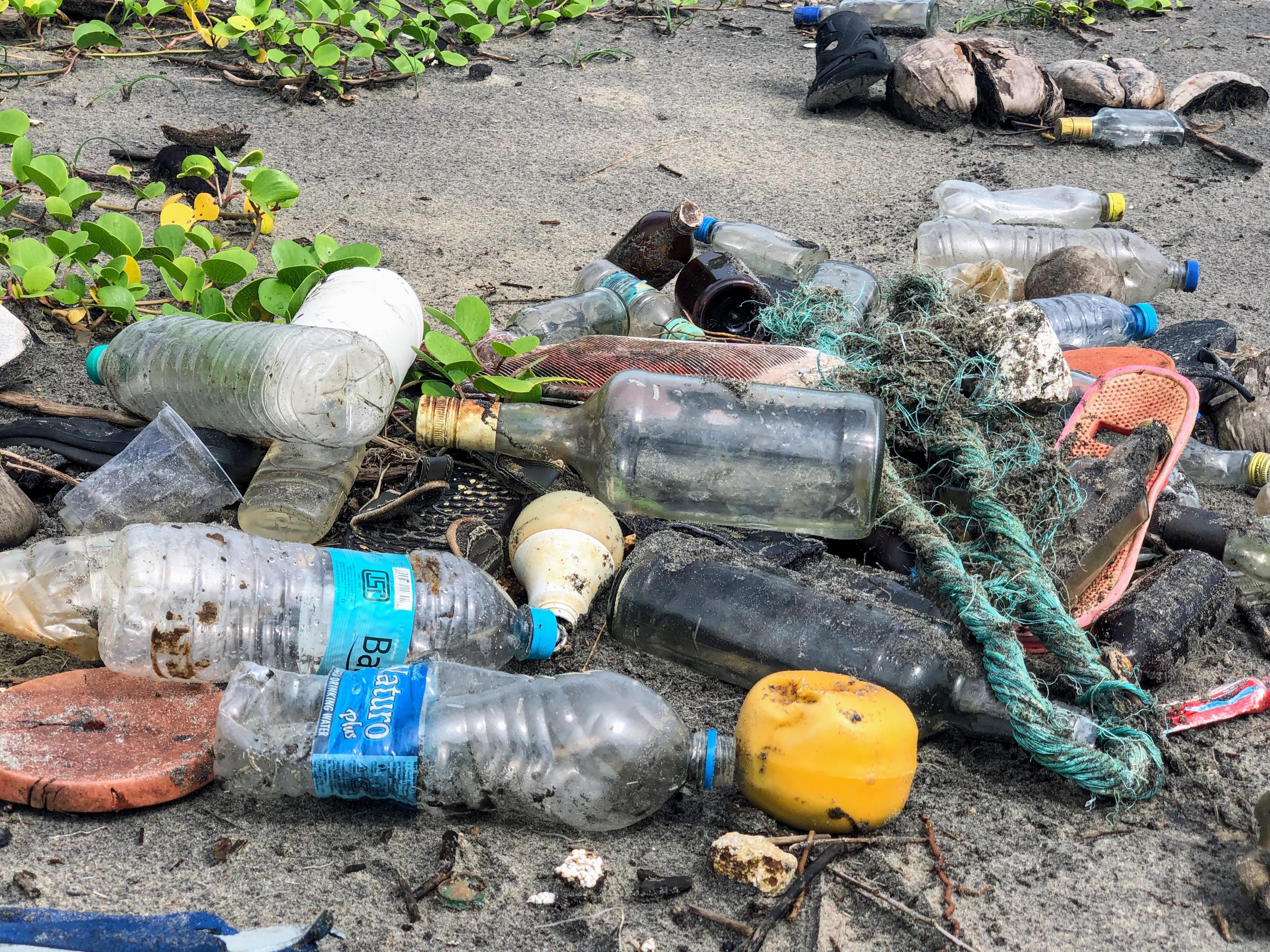 bouteilles en plastique dechets