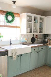porte armoire peinture turquoise