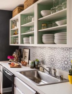 peinture interieure armoire cuisine