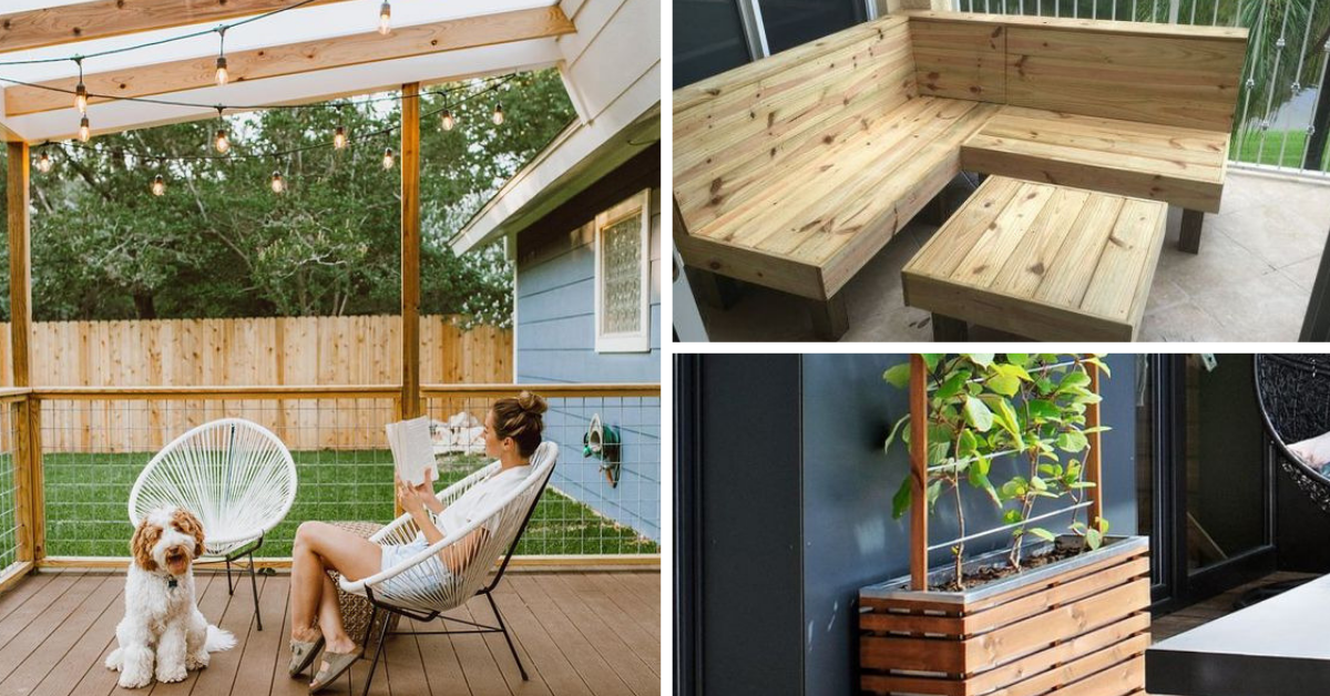 materiaux recycles patio
