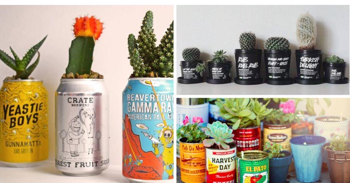 pot a fleurs objets recycles