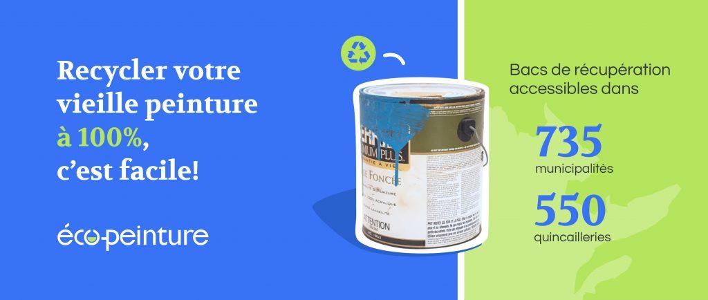 Recycler votre peinture c'est facile