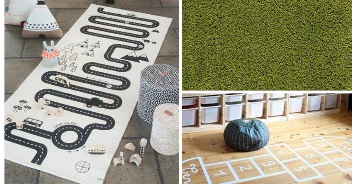 tapis et deco de sol pour salle de jeux