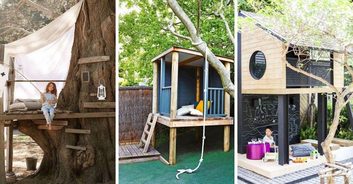 cabane dans les arbres enfant