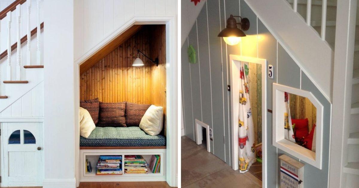 maison enfant sous escalier