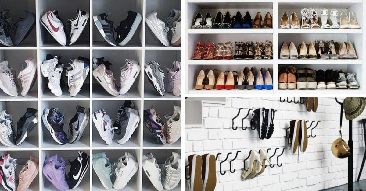 rangement pour souliers dans garde-robe