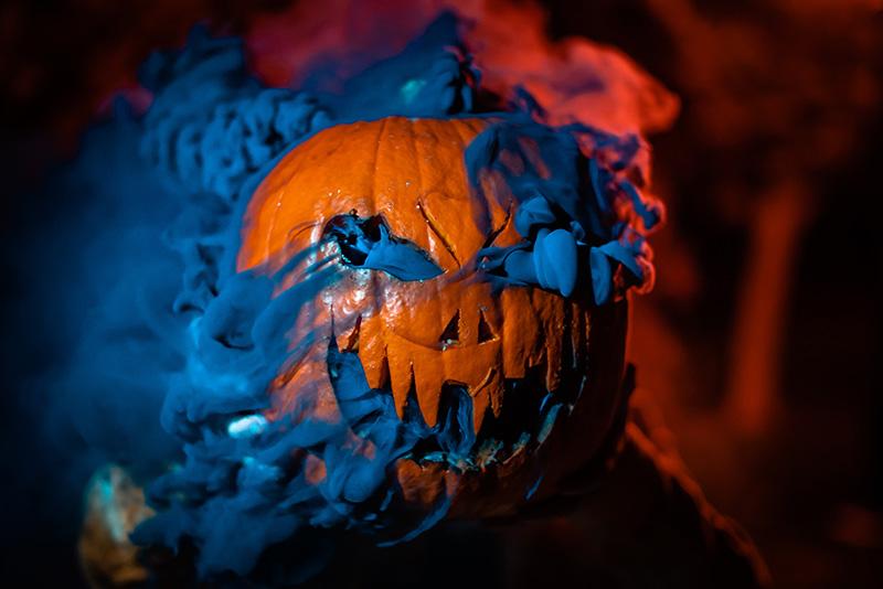 Gaspillage de citrouilles à l'halloween