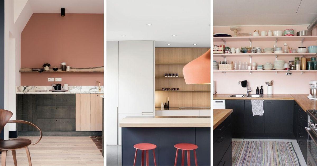 accent de rose dans une cuisine