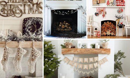 Inspirations pour décoration du manteau de foyer pour Noël