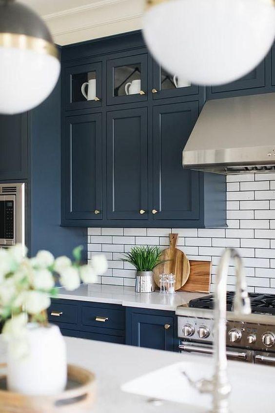 Armoires de cuisine bleu