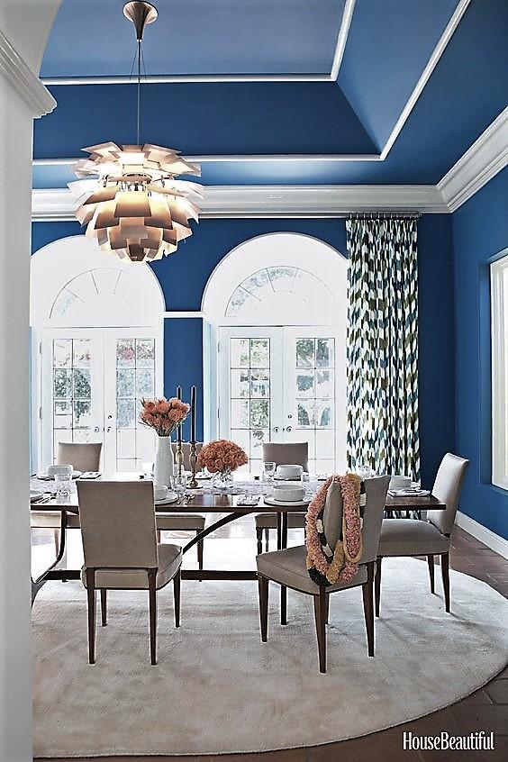 Couleur bleu plafond
