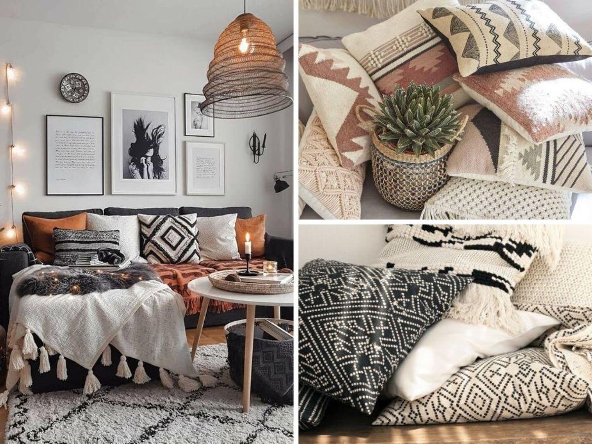 coussins et couvertures pour deco salon