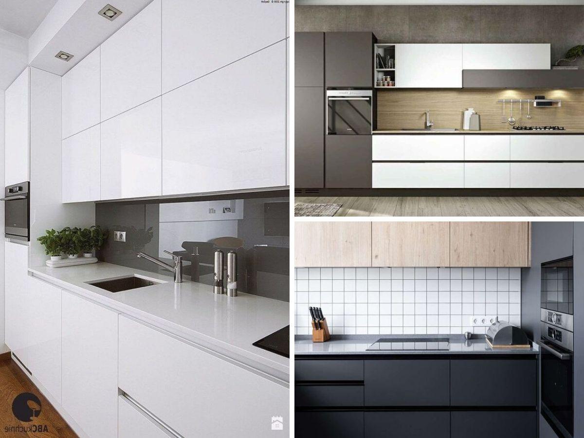 cuisine blanche avec dosseret gris ou armoire grise