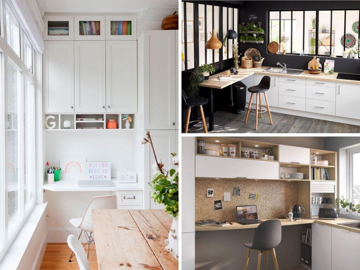 espace bureau cuisine