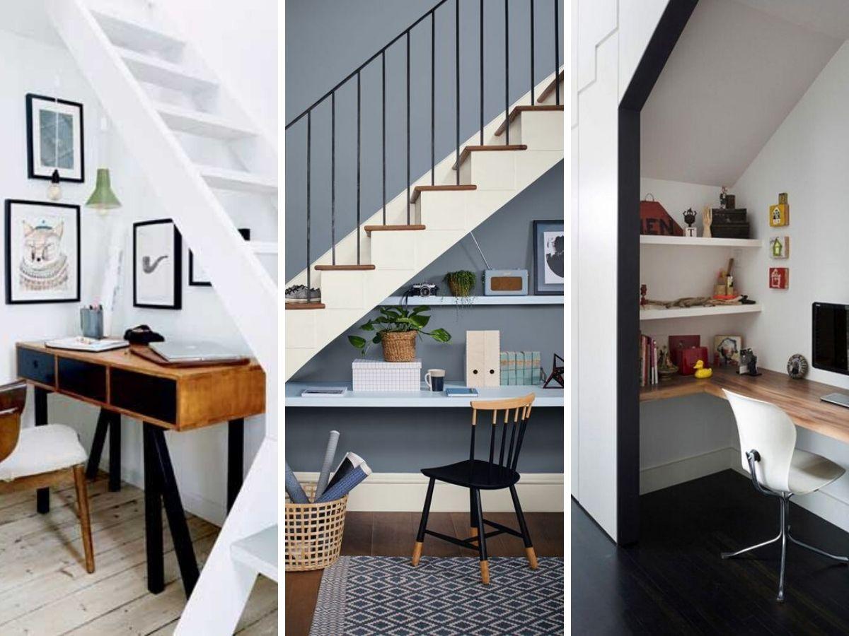 espace travail dessous escalier