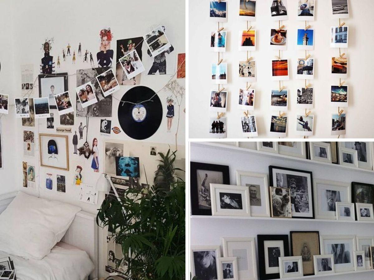 montage photos mur