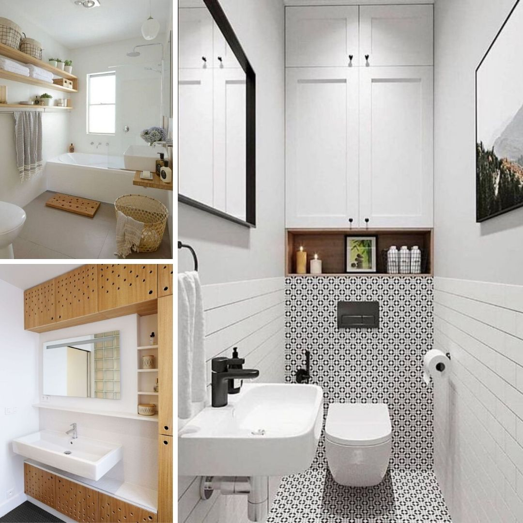 rangement salle de bain plafond