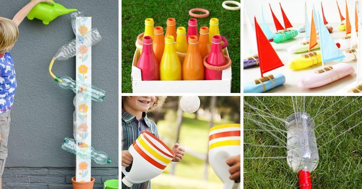 diy jeux enfants avec bouteilles de plastique
