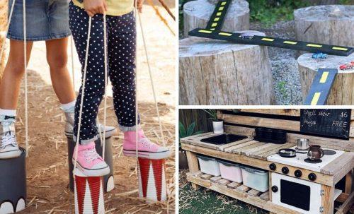 Jeux extérieurs pour enfants :  projets DIY à réaliser avec des objets recyclés