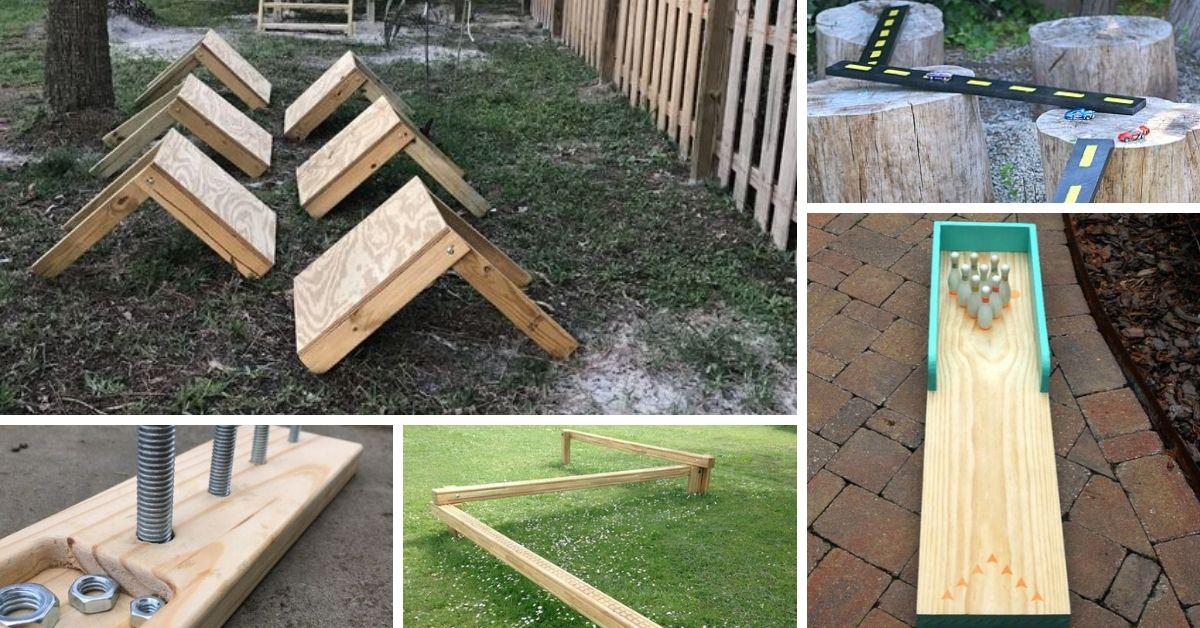 diy jeux enfants avec planche de bois