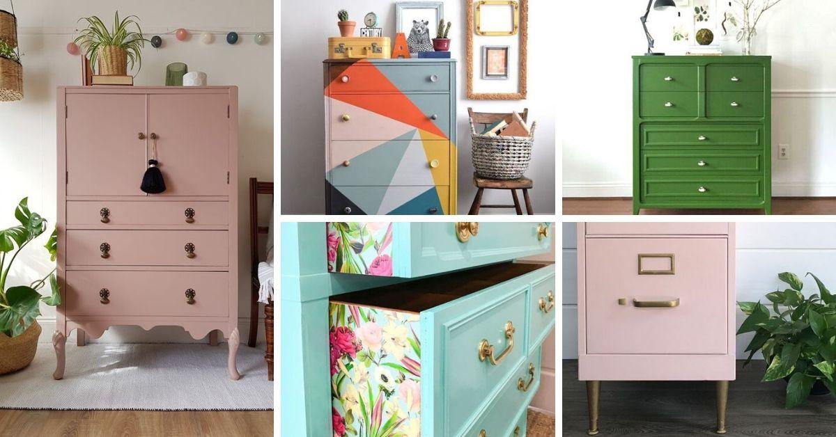 peinturer un meuble couleurs printemps