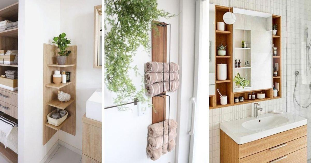rangement pour petite salle de bain