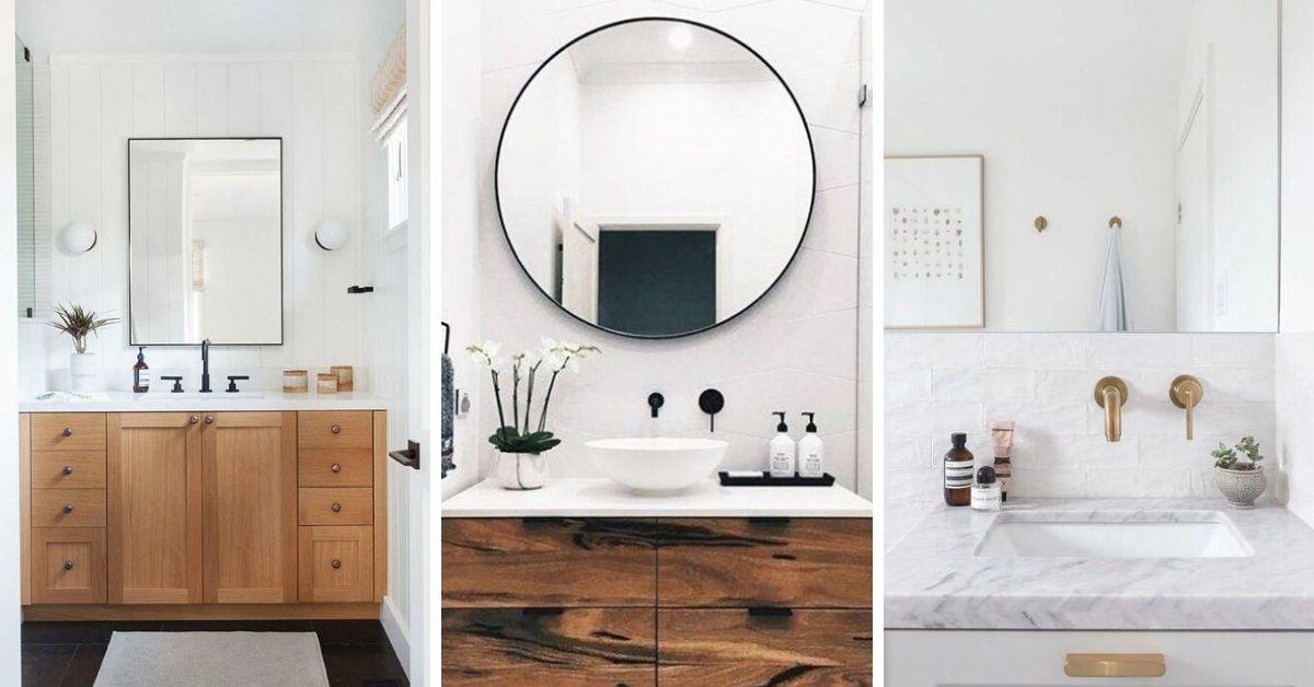 miroir dans petite salle de bain