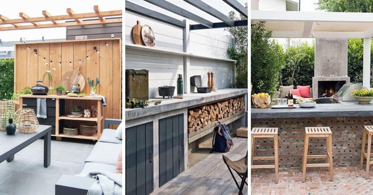 cuisine et bar terrasse maison