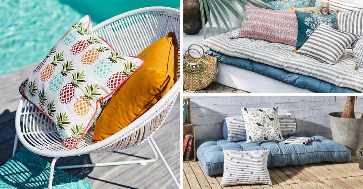 textiles pour deco terrasse