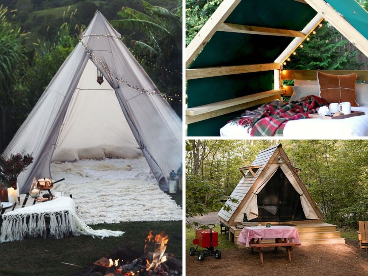 camping dans la cour