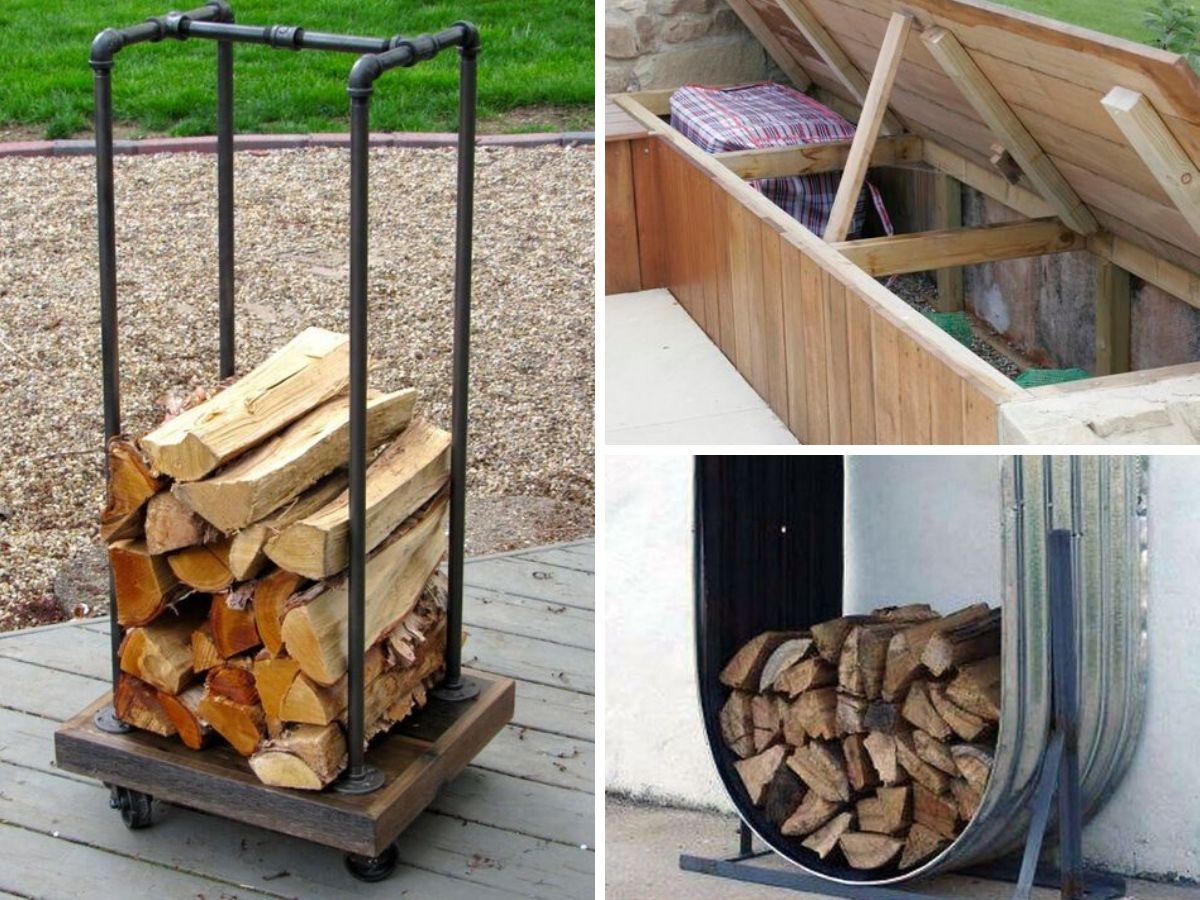 rangement exterieur pour corder le bois