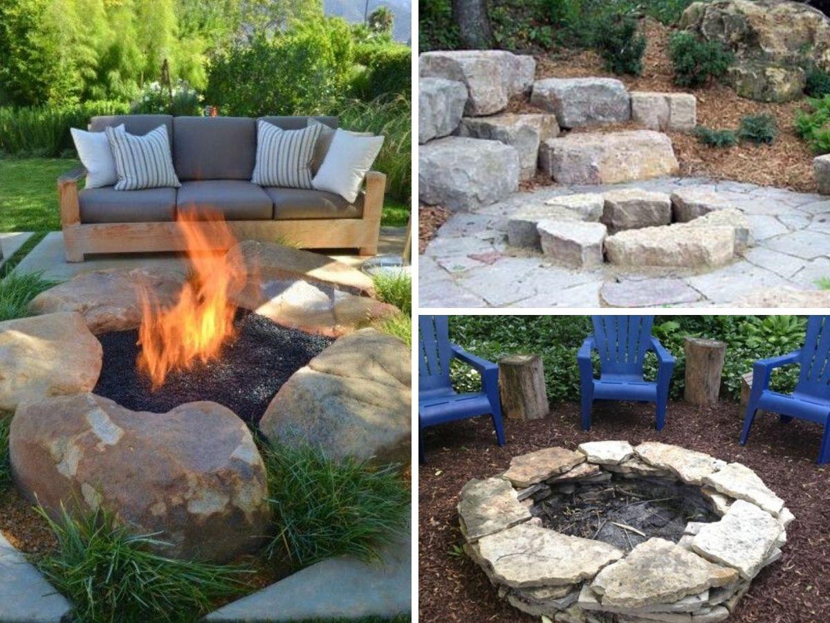 foyer extetieur avec pierres naturelles